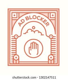 AD BLOCKER ICON CONCEPT