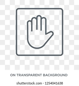Ad blocker icon. Ad blocker design concept from Marketing collection. Simple element vector illustration on transparent background.