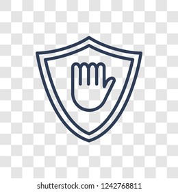 Ad blocker icon. Trendy linear Ad blocker logo concept on transparent background from Marketing collection