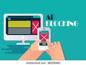 Ad blocking concept