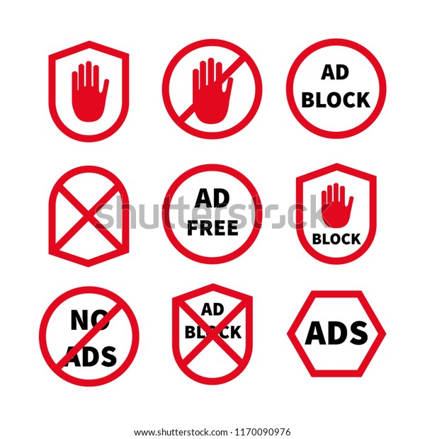 Ad Blocking Pop Ad Blocker Flat Stock Vector (Royalty Free) 1170090976