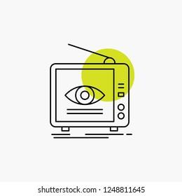 Ad, broadcast, marketing, television, tv Line Icon