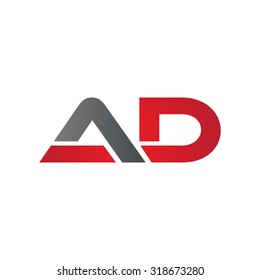 AD company group linked letter logo