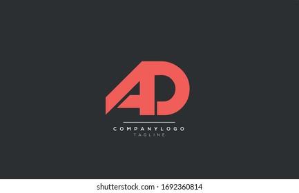 AD DA A D Letter Logo Alphabet Design Template Vector