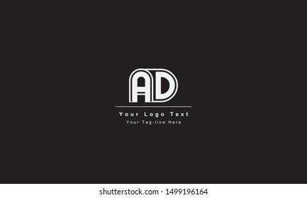AD or DA letter logo. Unique attractive creative modern initial AD DA A D initial based letter icon logo