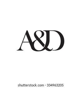 A&D Initial logo. Ampersand monogram logo