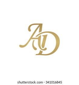 AD initial monogram logo