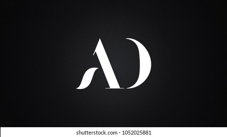 AD letter Logo Design Template Vector