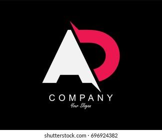 AD Letter Logo Design Template Element