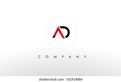 AD Logo. A D Letter Design Vector