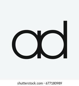 ad logo icon vector