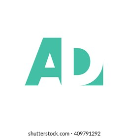 AD Logo | Vector Graphic Branding Letter Element | jpg, eps, path, web, app, art, ai | White Background