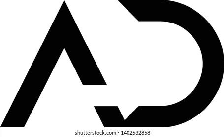 AD minimal logo with intials