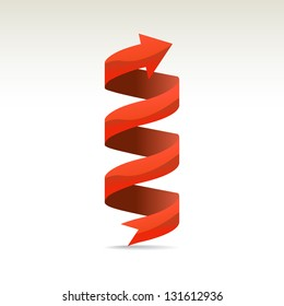 Ad ribbon, 360degree wrapped around own axis, illustration
