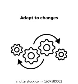 adapt to changes icon vector. perfect adapt to changes  vector - symbol. beautiful adapt to changes or adaptable element. web design and mobile design. premium quality element-vector.