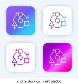 Adaptation bright purple and blue gradient app icon