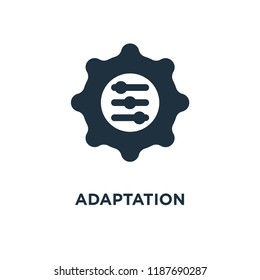Adaptation icon. Black filled vector illustration. Adaptation symbol on white background. Can be used in web and mobile.