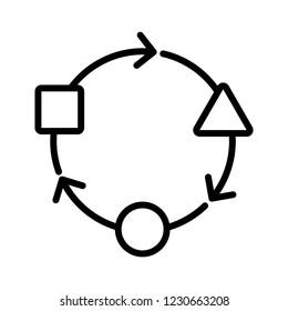 Adaptation icon, vector illustration