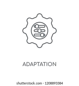 Adaptation linear icon. Adaptation concept stroke symbol design. Thin graphic elements vector illustration, outline pattern on a white background, eps 10.