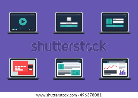 Adaptive Web Template Site Forms Email Stock Vector Royalty Free