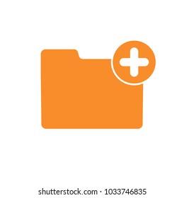 Add attach create folder make new plus icon. Vector icon