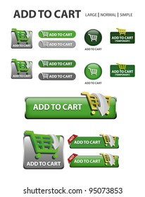 add to cart button, collection of shopping icons and buttons