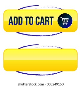 Add to Cart Button with Shopping Cart and Blue Circle