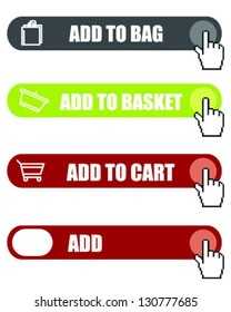Add to cart button-vector