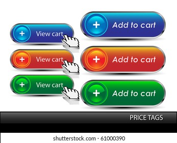 Add to cart button.Vector