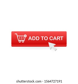 Add to cart icon. Shopping Cart icon. Vector stock illustration.