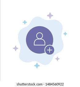 Add, Contact, Twitter Blue Icon on Abstract Cloud Background. Vector Icon Template background