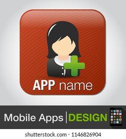 add female user - vector businesswoman user silhouette, team member, business profile