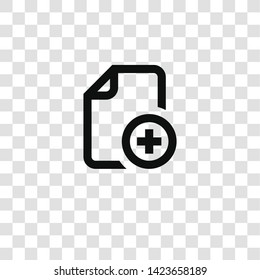 add file icon from miscellaneous collection for mobile concept and web apps icon. Transparent outline, thin line add file icon for website design and mobile, app development