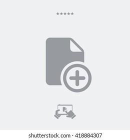 Add file vector icon