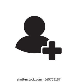 add friend icon illustration isolated vector sign symbol