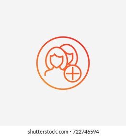 Add goup icon.gradient illustration isolated vector sign symbol