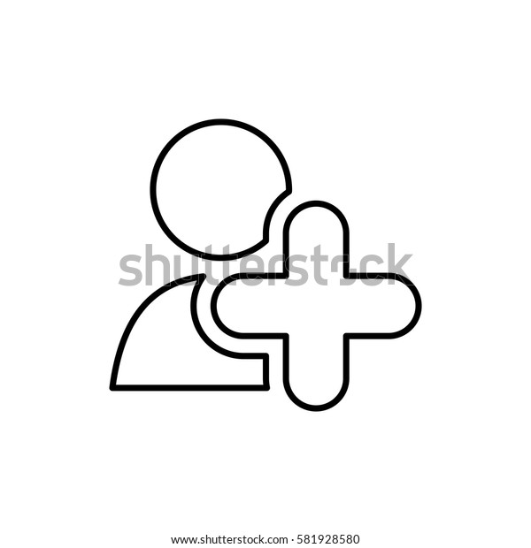 Add people symbol icon vector illustration graphic design