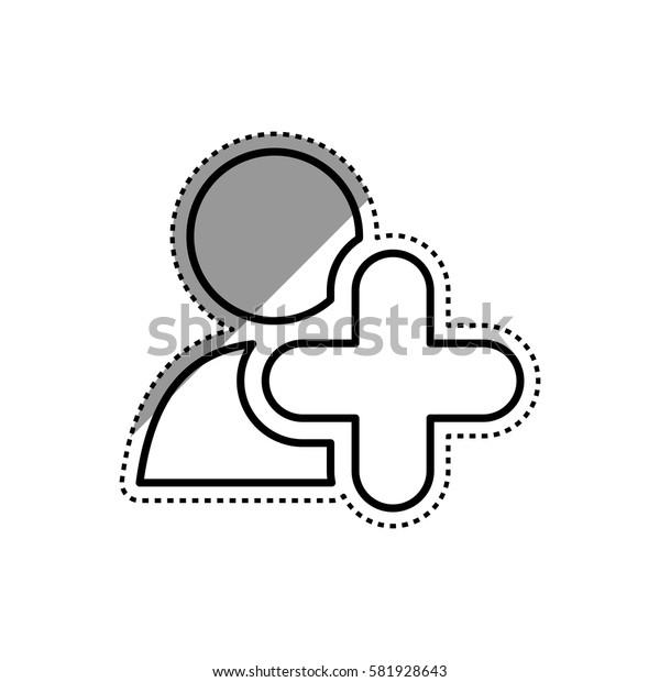 Add people symbol icon vector illustration graphic design