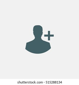 add person to friends list icon vector isolated on white background