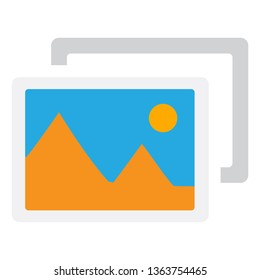 Add photo icon. illustration of photo album icon
