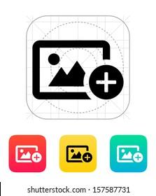 Add photo icon. Vector illustration.