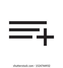 add playlist vector icon. music album symbol. flat design. simple vector concept