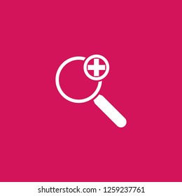 add search icon vector. add search sign on pink background. add search icon for web and app