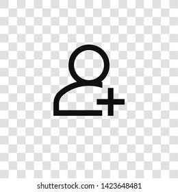 add user icon from miscellaneous collection for mobile concept and web apps icon. Transparent outline, thin line add user icon for website design and mobile, app development