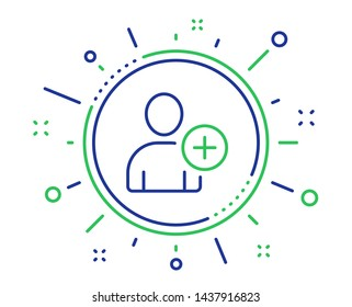 Add User line icon. Profile Avatar sign. Person silhouette symbol. Quality design elements. Technology add User button. Editable stroke. Vector