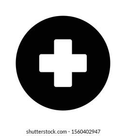 add vector glyph flat icon