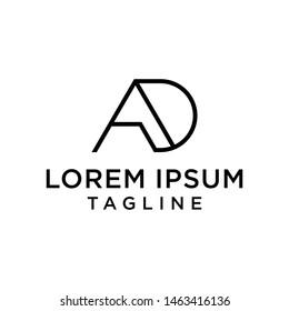 AD,DA, letters logo monogram design vector