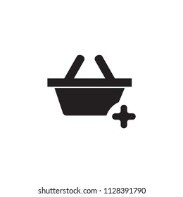 Added pannier icon vector symbol sign