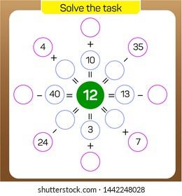 Addition and subtraction - Solve the task Vector