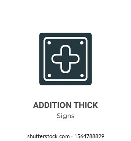 Addition thick vector icon on white background. Flat vector addition thick icon symbol sign from modern signs collection for mobile concept and web apps design.